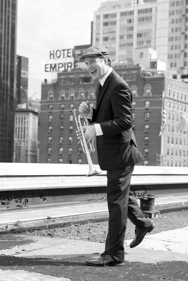 Musician on rooftop by Jennifer Taylor Photography